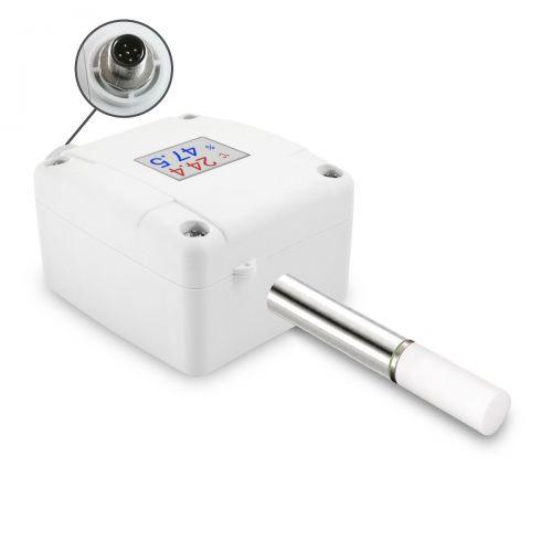 Außenkombifühler für Temperatur und Feuchte mit M12 Steckverbinder (0‑10V/4‑20mA)