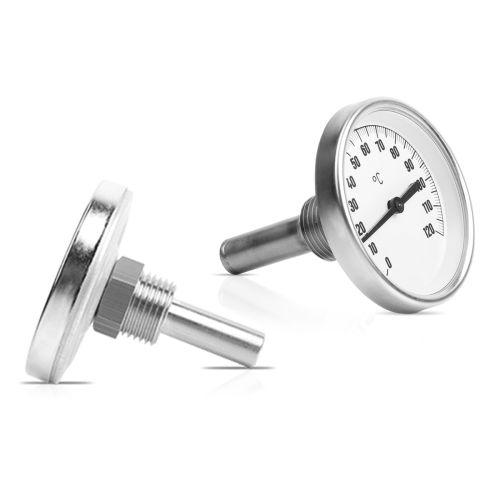 """Bimetall-Einschraubthermometer mit Tauchhülse G1/2"""" Edelstahl"""