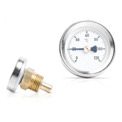 Bimetall Einschraubthermometer mit Messing Tauchhülse