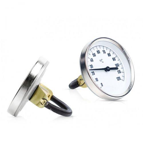 Bimetall-Anlegethermometer mit Befestigungsfeder