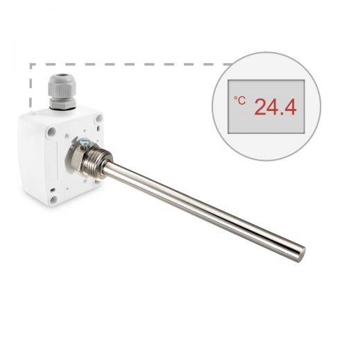 Einschraubtemperaturfühler mit Messingtauchhülse (0‑10V/4‑20mA)