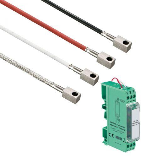 Norm- bzw. Hutschienen-Messumformer mit Oberflächenfühler mit Anlegeklotz (0‑10V/4‑20mA)