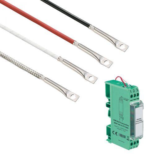 Norm- bzw. Hutschienen-Messumformer mit Oberflächenfühler mit integrierter Bohrung (0‑10V/4‑20mA)