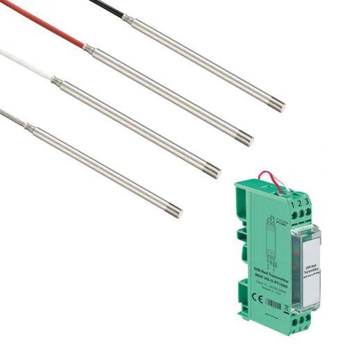 Norm- bzw. Hutschienen-Messumformer mit Raumpendeltemperaturfühler (0‑10V/4‑20mA)