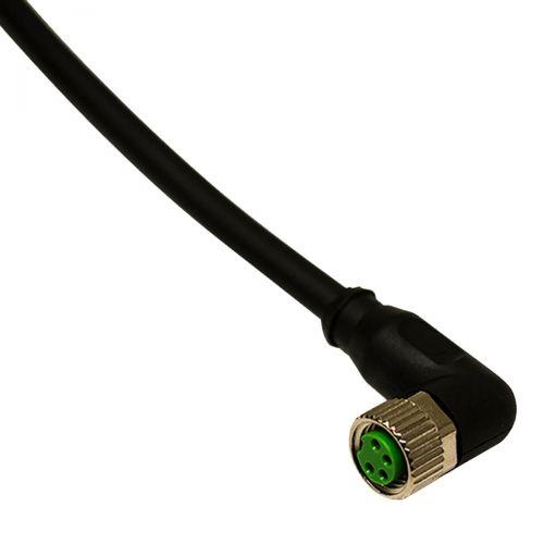 Gewinkelte M8 Anschlussleitung für induktive M8-Sensoren, 10m PVC, 4-adrig