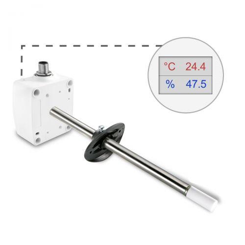 Kanalkombifühler für Temperatur und Feuchte mit M12 Steckverbinder (0-10V/4-20mA)