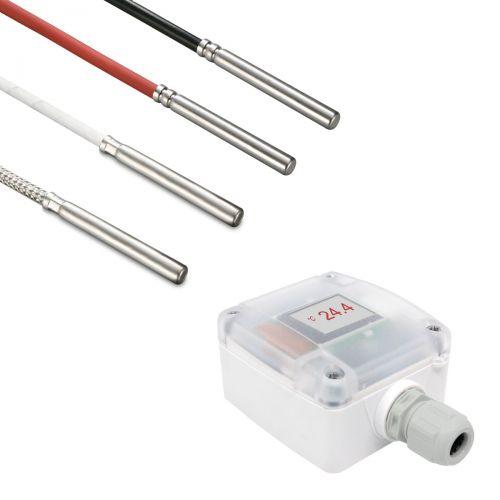 Messumformer mit Kabelfühler Ø 5 mm (0‑10V/4‑20mA)