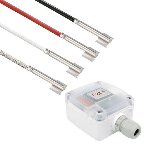 Messumformer mit Rohranlegefühler mit Edelstahlhülse (0‑10V/4‑20mA)