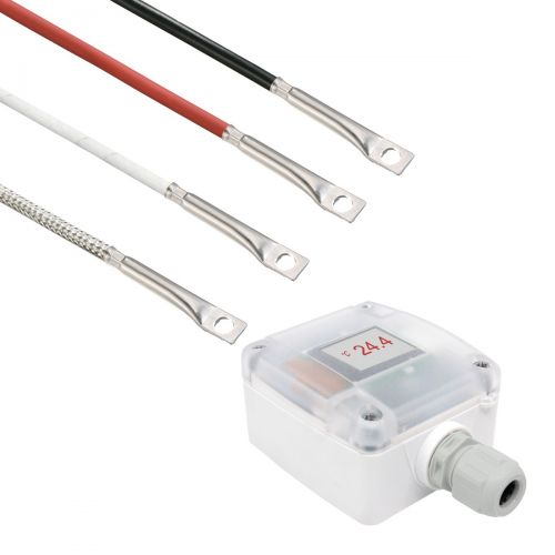 Messumformer mit Oberflächenfühler mit integrierter Bohrung (0‑10V/4‑20mA)