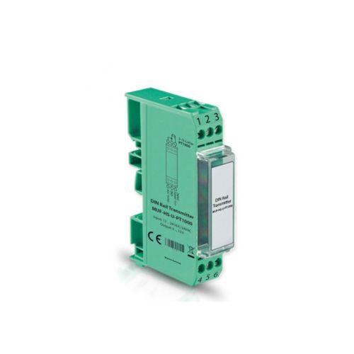 Norm- bzw. Hutschienen-Messumformer für PT1000 und PT100 mit Ausgang 0-10 V oder 4-20mA
