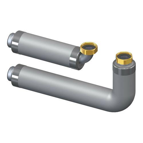 Verbinderset DN25 zwischen Hydraulischer Weiche/Pufferspeicher/Kessel und Verteilerbalken