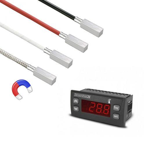 Elektronische Temperaturanzeige für PT100 inkl. Magnetischer Anlegefühler