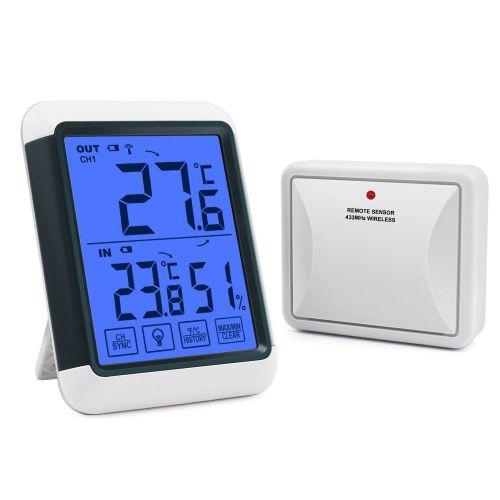 Digitales Funk Thermo-Hygrometer mit aufladbarem Außensensor