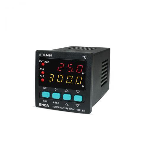 PID-Temperaturregler für PT100 Fühler und  Thermoelemente vom Typ J, K, T, S und R