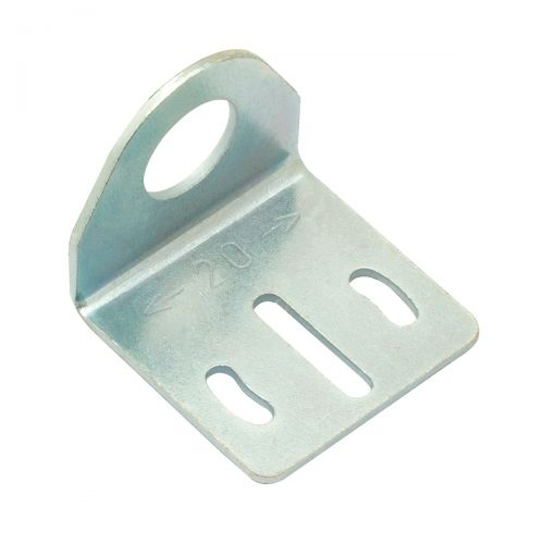 Rechtwinklige Halterung aus Metall für zylindrische M12-Sensoren